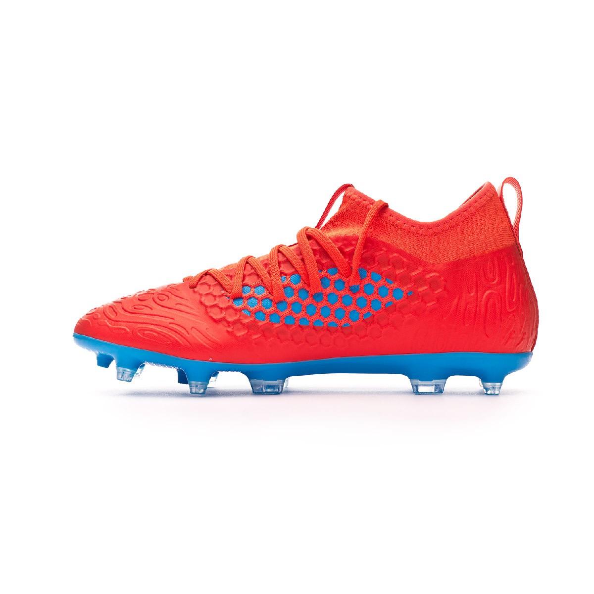 101c43838ddca Chuteira Puma Future 19.3 Netfit FG/AG Red blast-Bleu azur - Loja de  futebol Fútbol Emotion