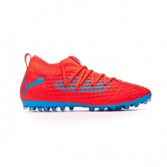 Zapatos de fútbol  Puma Future 19.3 Netfit MG Red blast-Bleu azur