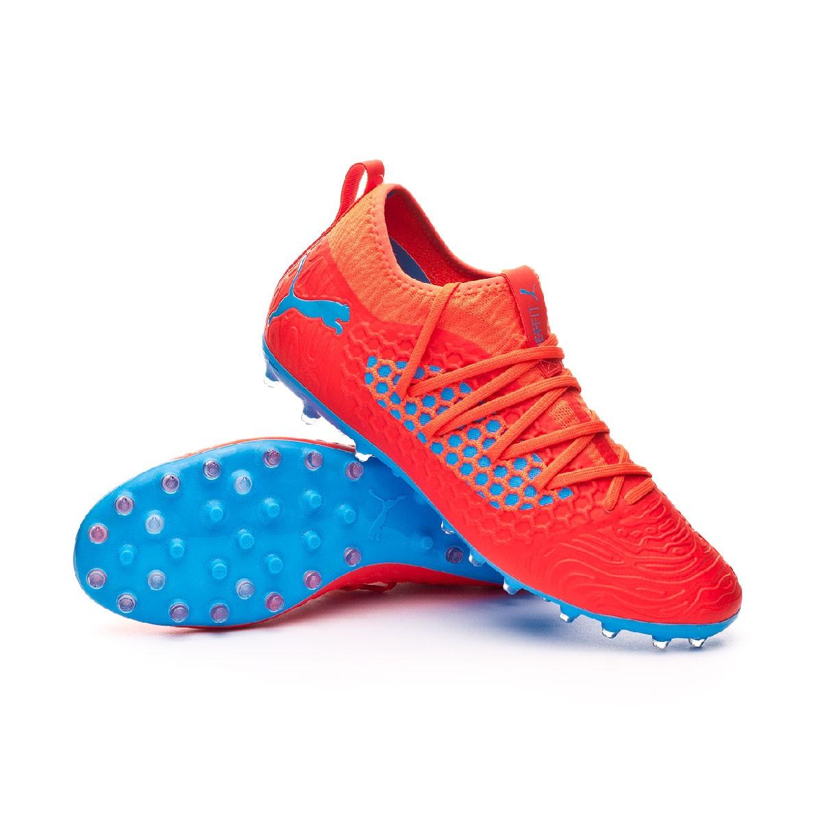 58bdfaf9a Football Boots Puma Future 19.3 Netfit MG Red blast-Bleu azur - Football  store Fútbol Emotion
