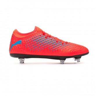 Zapatos de fútbol  Puma Future 19.4 SG Red blast-Bleu azur