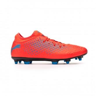 Zapatos de fútbol  Puma Future 19.4 FG/AG Red blast-Bleu azur