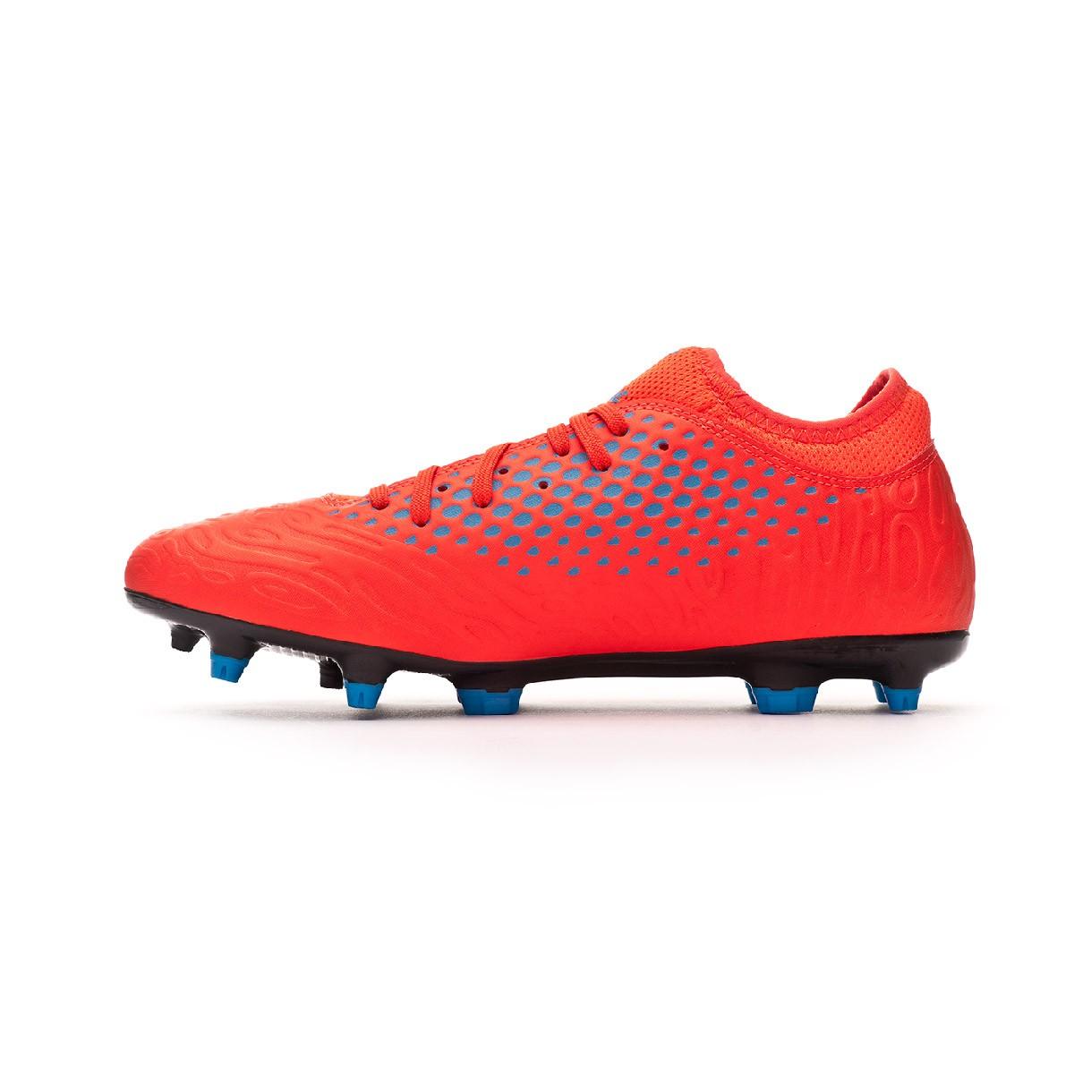 11f5e6c9119 Chuteira Puma Future 19.4 FG AG Red blast-Bleu azur - Loja de futebol  Fútbol Emotion