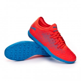 Football Boot  Puma Future 19.4 Turf Red blast-Bleu azur