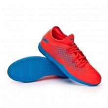 Sapatilha de Futsal Future 19.4 IT Red blast-Bleu azur