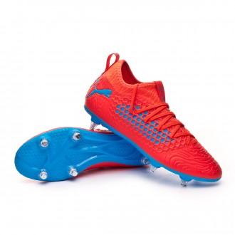 Football Boots  Puma Future 19.3 Netfit SG Red blast-Bleu azur