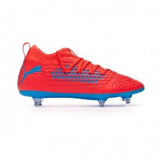 Zapatos de fútbol  Puma Future 19.3 Netfit SG Red blast-Bleu azur