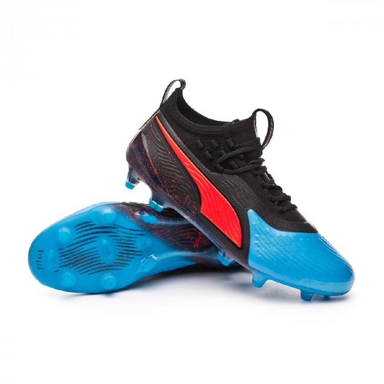 Bota de fútbol Puma One 19.1 FG AG Bleu azur-Red blast-Black ... c26b381d862de