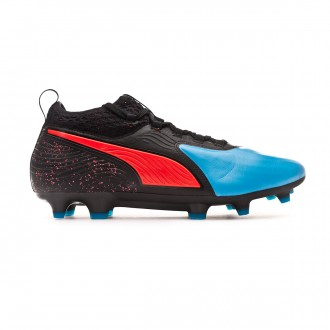 Bota Puma One 19.2 FG/AG Bleu azur-Red blast-Black