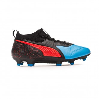 Bota  Puma One 19.3 FG/AG Bleu azur-Red blast-Black