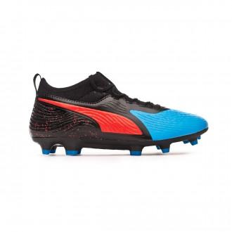 Zapatos de fútbol  Puma One 19.3 Syn FG/AG Bleu azur-Red blast-Black