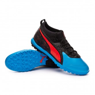 Football Boot  Puma One 19.3 Turf Bleu azur-Red blast-Black
