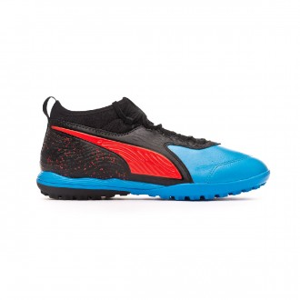 Zapatilla Puma One 19.3 Turf Bleu azur-Red blast-Black