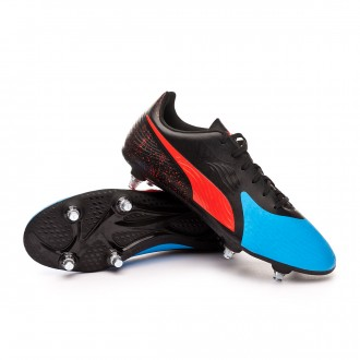 Bota  Puma One 19.4 SG Bleu azur-Red blast-Black