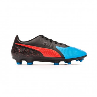 Bota Puma One 19.4 FG/AG Bleu azur-Red blast-Black