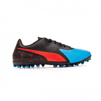 Bota Puma One 19.4 MG Bleu azur-Red blast-Black