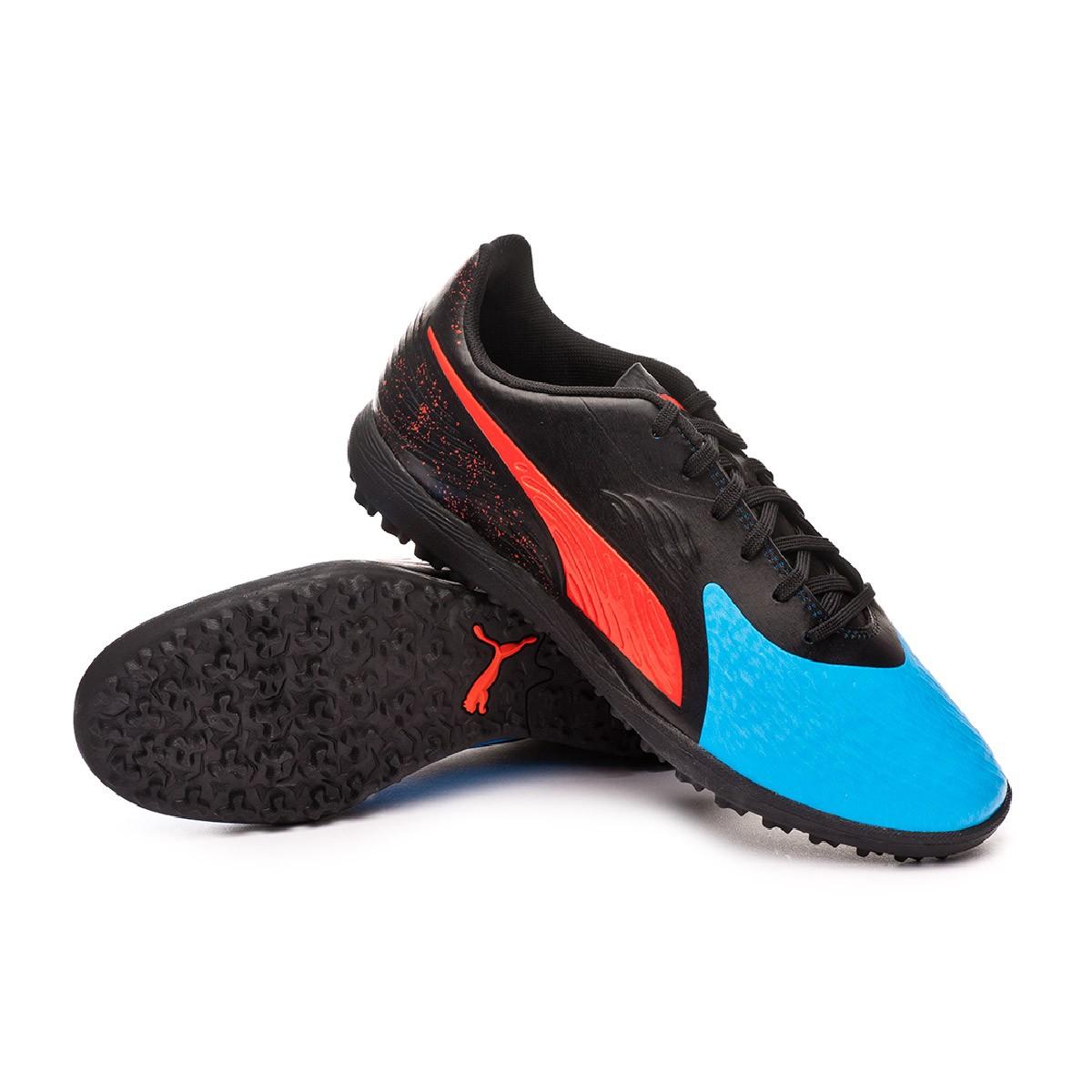 e7bbd2293a5e Football Boot Puma One 19.4 Turf Bleu azur-Red blast-Black - Football store  Fútbol Emotion