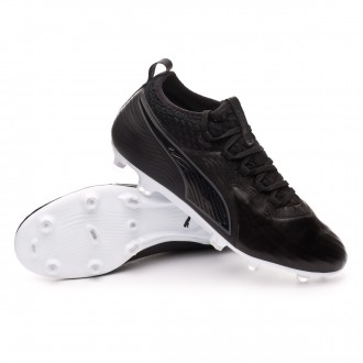 Chuteira  Puma One 19.2 FG/AG Black-White