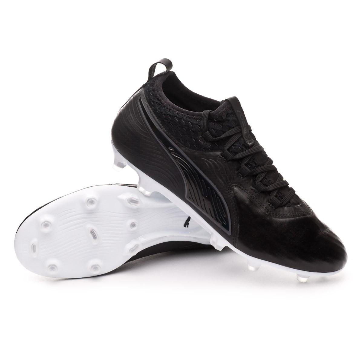 Chuteira Puma One 19.2 FG AG Black-White - Loja de futebol Fútbol Emotion 9daacb3b5727e