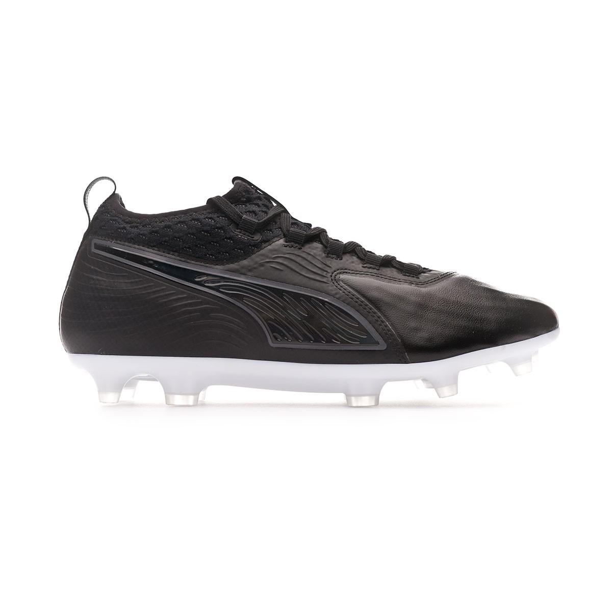0fc3e65e2c9 Football Boots Puma One 19.2 FG AG Black-White - Football store Fútbol  Emotion