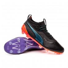 Chaussure de foot One 19.1 MVP FG/AG Black-Caribean sea-Purple-Shocking orange
