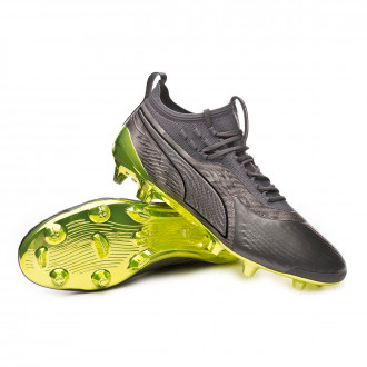 Bota  Puma One 19.1 Ltd.Ed. FG/AG Aged silver-Charcoal gray-Fizzy yellow