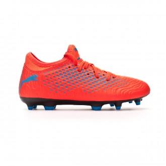Zapatos de fútbol  Puma Future 19.4 FG/AG Niño Red blast-Bleu azur