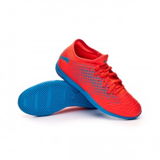Futsal Boot  Puma Kids Future 19.4 IT Red blast-Bleu azur