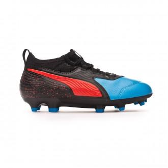 Bota Puma One 19.3 FG/AG Niño Bleu azur-Red blast-Black