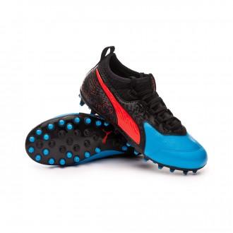 Bota  Puma One 19.3 MG Niño Bleu azur-Red blast-Black