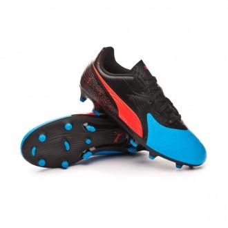 Bota  Puma One 19.4 FG/AG Niño Bleu azur-Red blast-Black