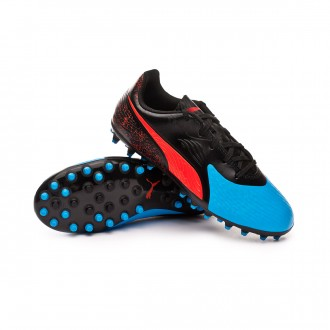 Bota  Puma One 19.4 MG Niño Bleu azur-Red blast-Black
