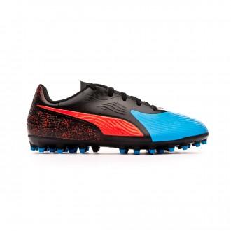 Bota Puma One 19.4 MG Niño Bleu azur-Red blast-Black