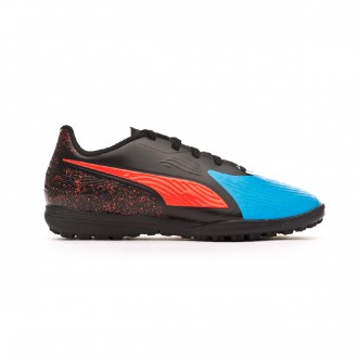 Zapatilla  Puma One 19.4 Turf Niño Bleu azur-Red blast-Black