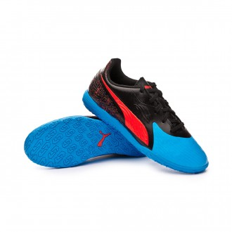 Futsal Boot  Puma Kids One 19.4 IT  Bleu azur-Red blast-Black