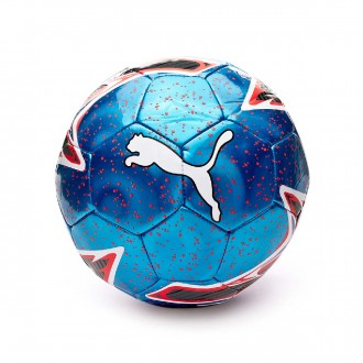 Ball  Puma One Laser Bleu azur-Red blast-White