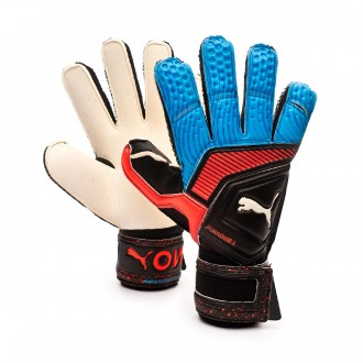 Glove  Puma One Grip 1 RC Black-Bleu azur-Red blast