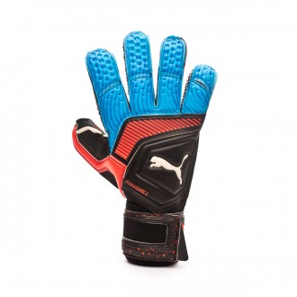 Luvas Puma One Grip 1 RC Black-Bleu azur-Red blast