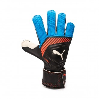 Luvas Puma One Grip 3 RC Black-Bleu azur-Red blast