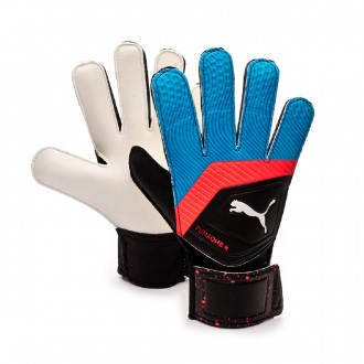 Glove  Puma One Grip 4 Black-Bleu azur-Red blast