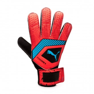 Luvas Puma One Grip 4 Red blast-Bleu azur-Black