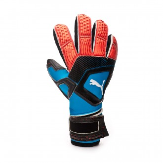 Luvas Puma One Protect 1 Bleu azur-Red blast-Black