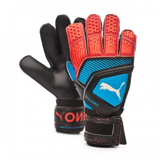 Glove  Puma One Protect 2 RC Bleu azur-Red blast-Black