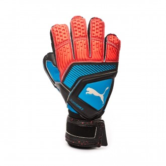 Luvas Puma One Protect 2 RC Bleu azur-Red blast-Black