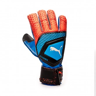 Luvas Puma One Protect 3 Bleu azur-Red blast-Black