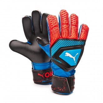 Glove  Puma One Protect 3 Niño Bleu azur-Red blast-Black