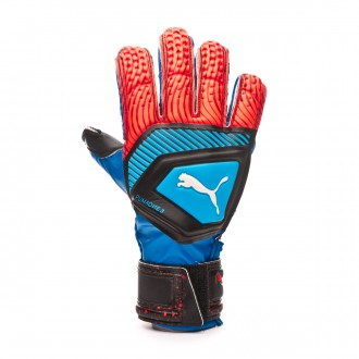 Luvas Puma One Protect 3 Niño Bleu azur-Red blast-Black