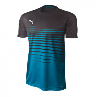 Camisola Puma ftblPLAY Graphic Black-Caribbean sea