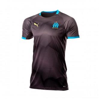 Camisola  Puma Olympique de Marsella Graphic 2018-2019 Black-Bleu azur