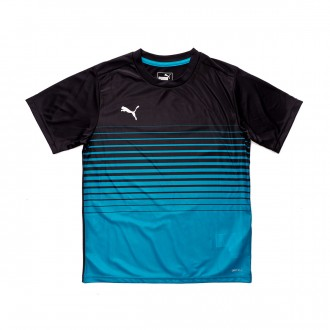 Maillot  Puma ftblPLAY Graphic Niño Black-Caribbean sea