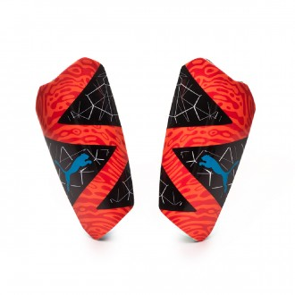 Shinpads  Puma Future 19.2 Red blast-Black-Bleu azur